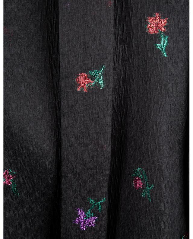 Blouse en soie mélangée à broderies florales scintillantes RED VALENTINO