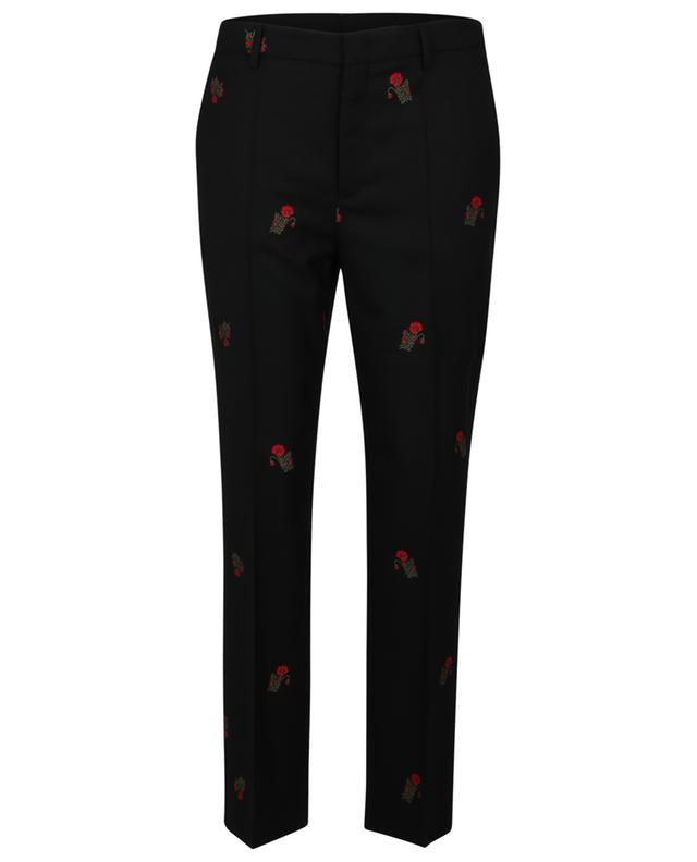 Pantalon en jacquard de laine fleuri RED VALENTINO