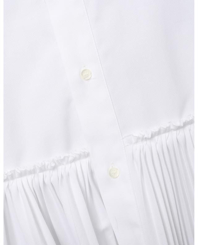 Robe chemise en coton Oxford à basque plissée RED VALENTINO