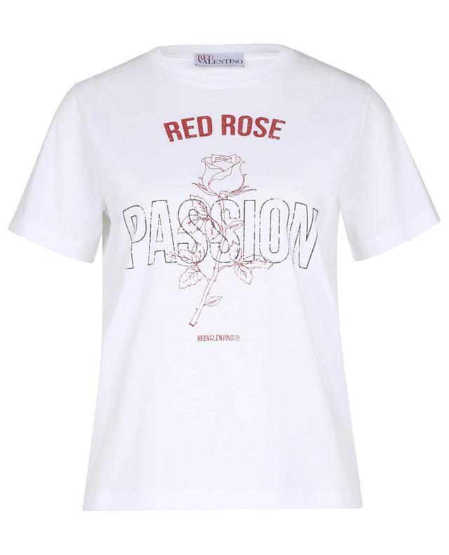 T-shirt imprimé rose et message RED VALENTINO