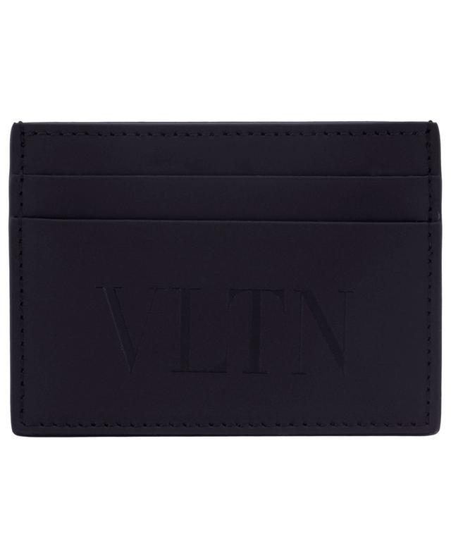 Porte-cartes en cuir lisse VLTN VALENTINO