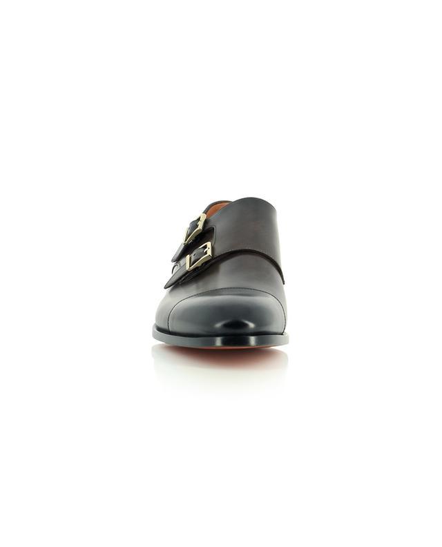 Chaussures en cuir lisse à double bride SANTONI