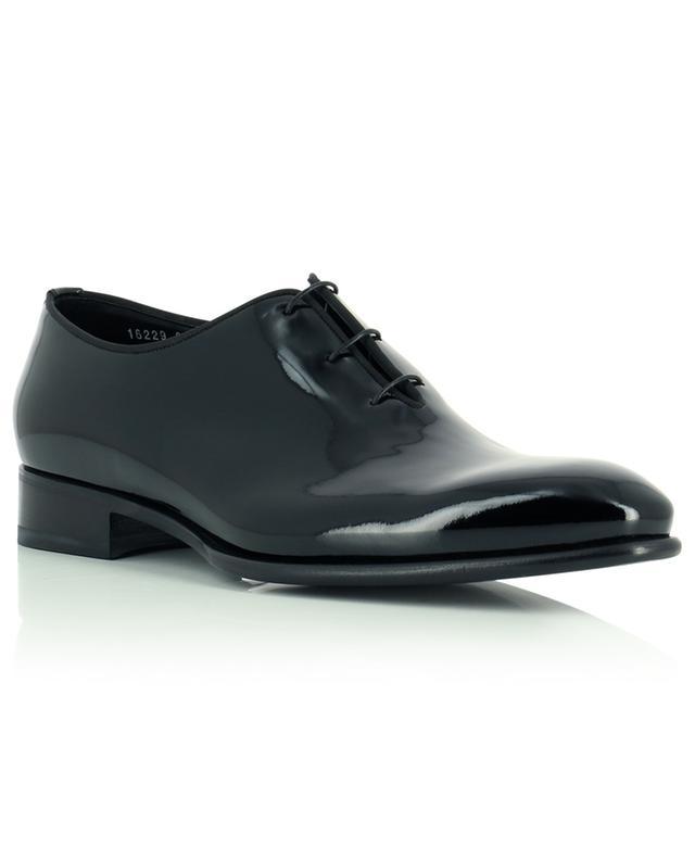 Chaussures à lacets en cuir verni SANTONI