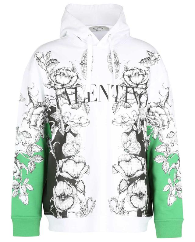 Sweat-shirt à capuche imprimé fleurs Dark Blooming VALENTINO