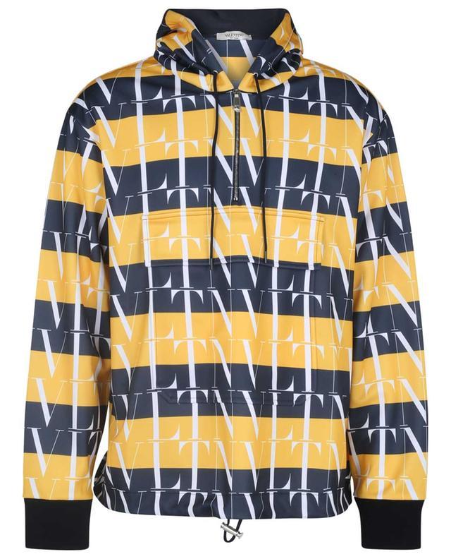 Sweat-shirt à capuche en piqué rayé VLTN VALENTINO