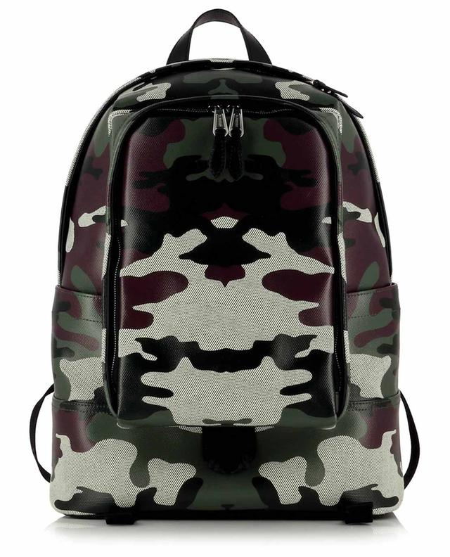 Sac à dos en toile enduite motif camouflage Jack BURBERRY