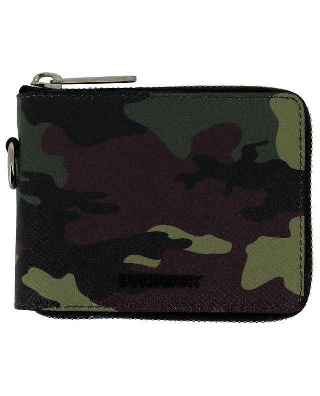 Portefeuille zippé en cuir imprimé camouflage Daniels Lanyard BURBERRY