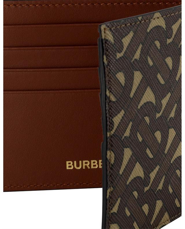 Portefeuille en cuir et toile monogrammée Reg BURBERRY