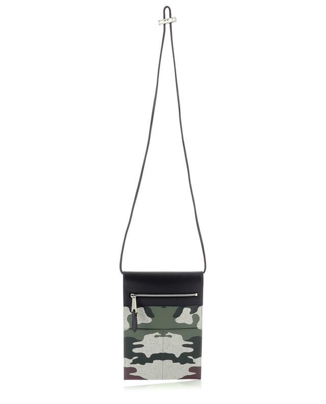 Sacoche en toile et cuir Pocket Phone Case Mangrove BURBERRY