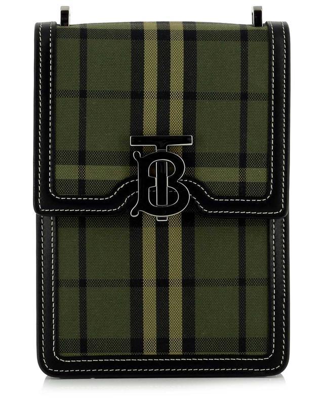 Sacoche en cuir et tissu à carreaux Robin BURBERRY