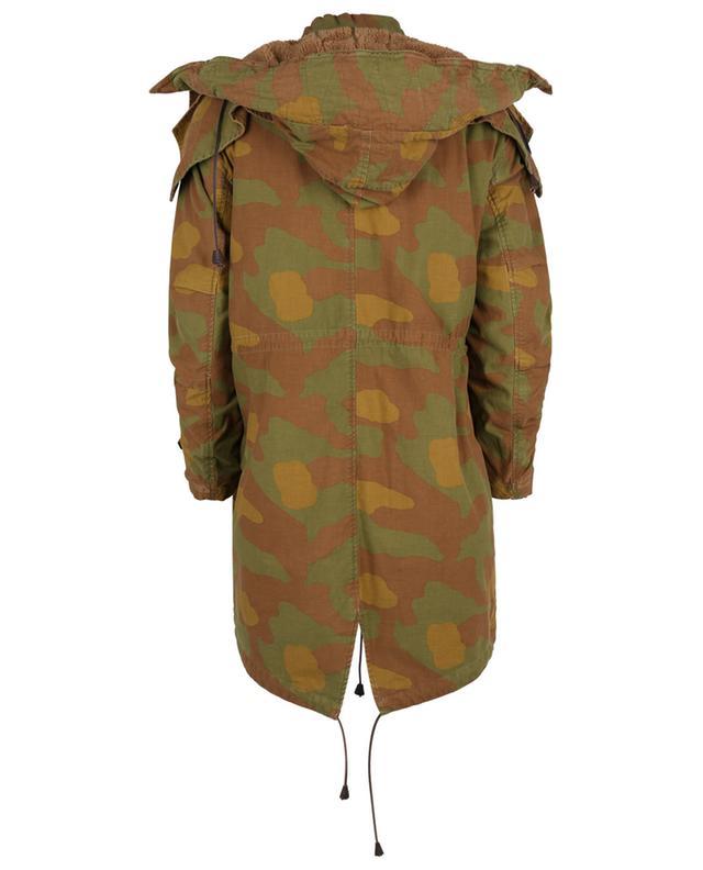 Parka à capuche imprimée camouflage DSQUARED2