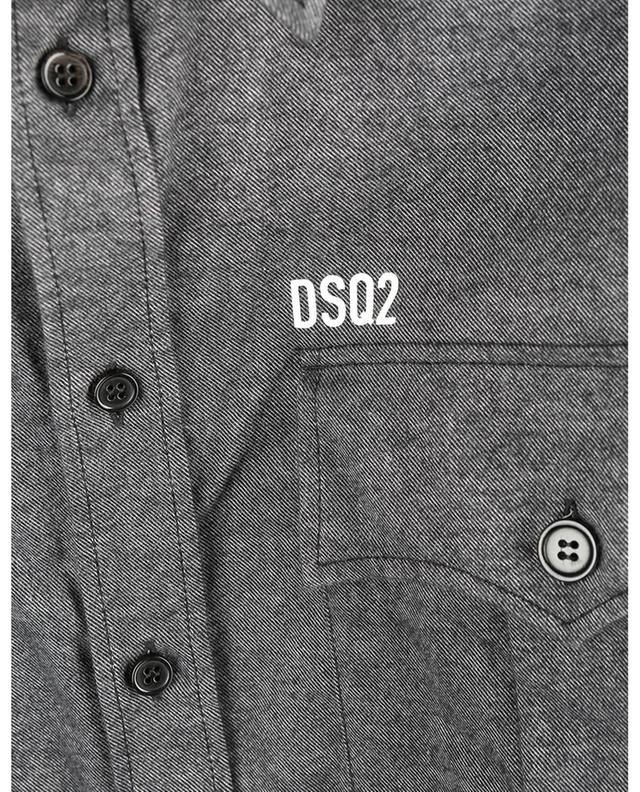 Surchemise en flanelle imprimée logo Military DSQUARED2
