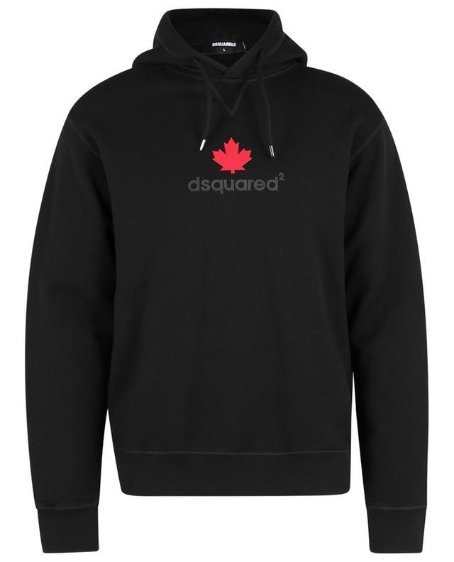 Sweat-shirt à capuche imprimé Mini Leaf DSQUARED2