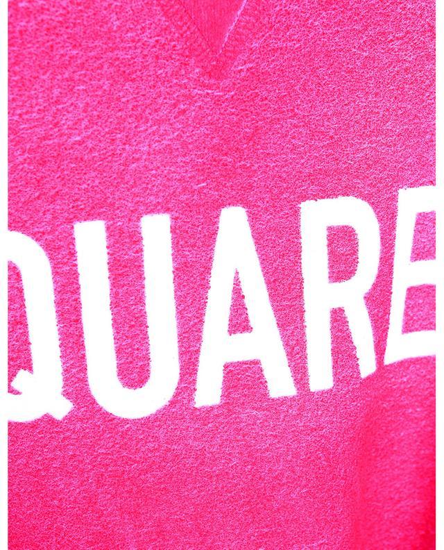 Sweat-shirt à col rond enduit Airbrush Cool Fit DSQUARED2