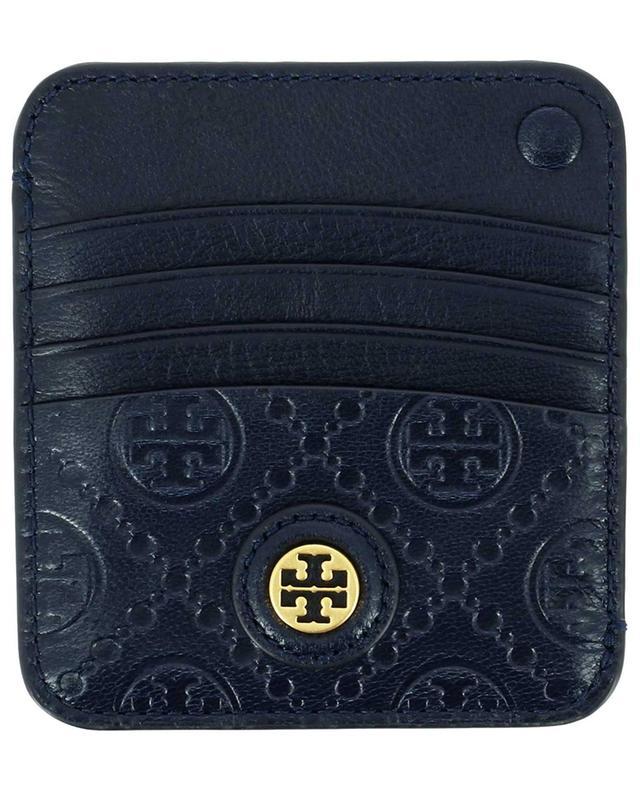 Grand porte-cartes en cuir gaufré T Monogram TORY BURCH