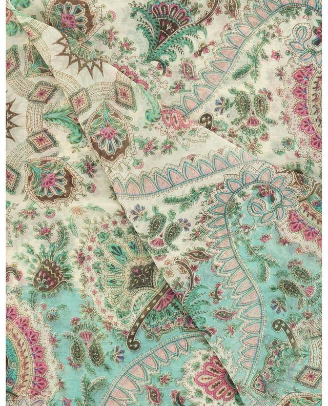 Écharpe en soie imprimée motifs Paisley Delhy ETRO