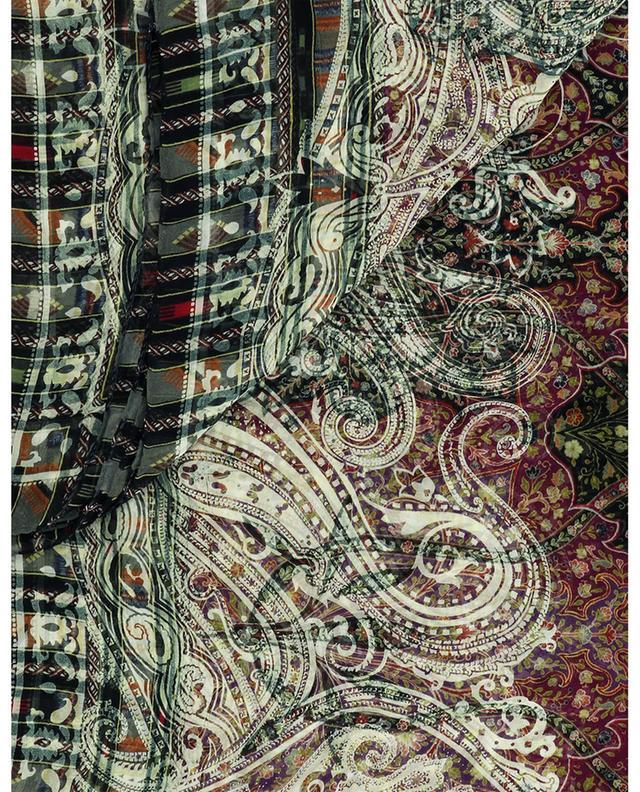 Écharpe en soie motifs Paisley art Mehndi Bombay ETRO