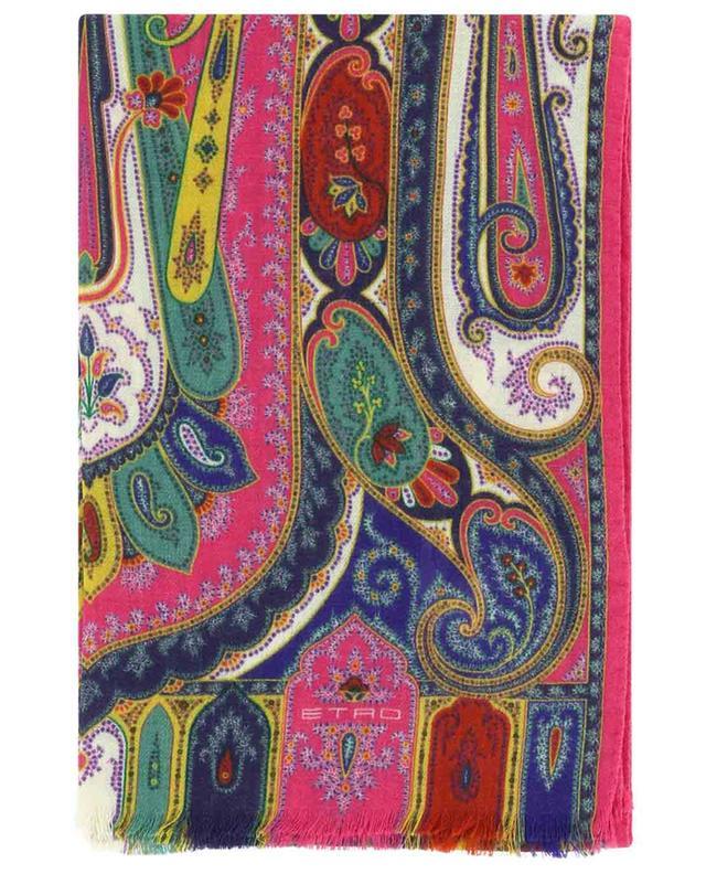 Écharpe en laine et soie couleurs vives Calcutta ETRO