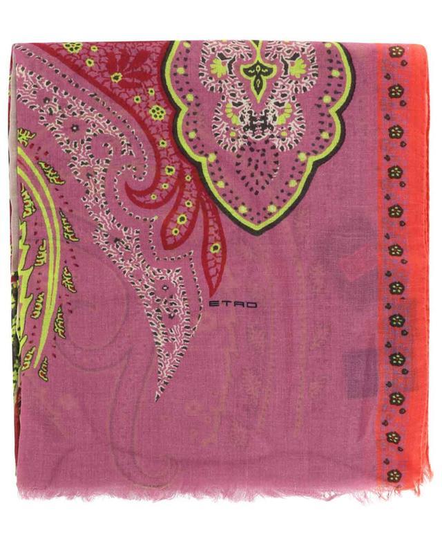 Écharpe en cachemire à motifs floraux Paisley Shaal-Nur ETRO