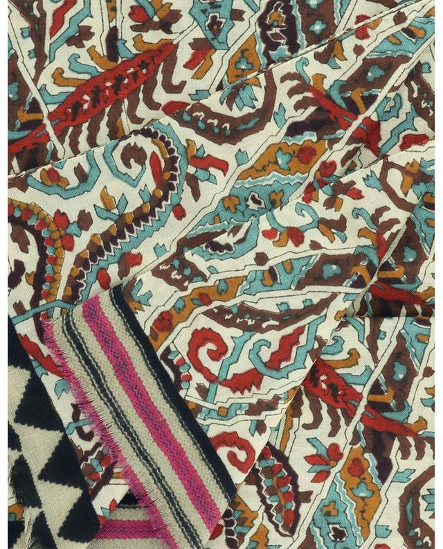 Écharpe en cachemire et soie à imprimé uniforme Shaal-Nur ETRO