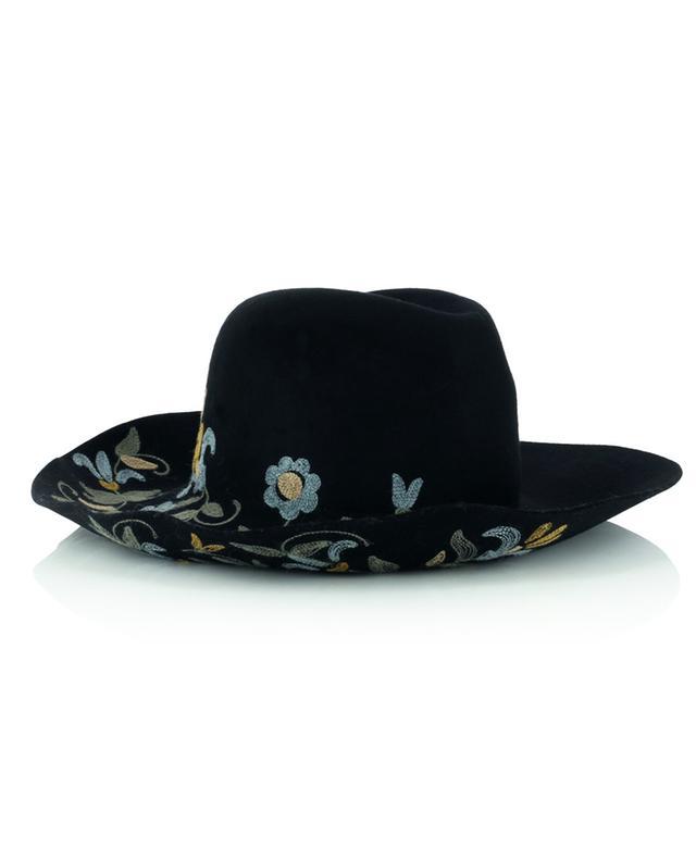 Chapeau de cowboy bohème à broderies fleuries ETRO