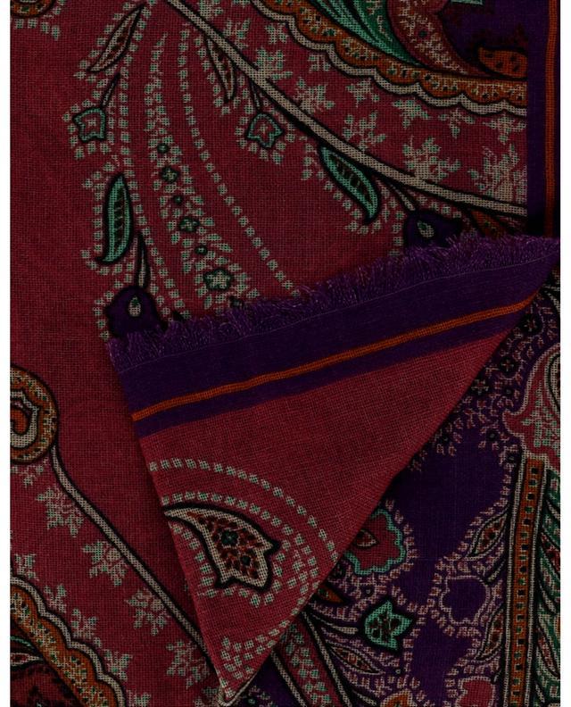 Foulard large carré à motifs Paisley colorés ETRO