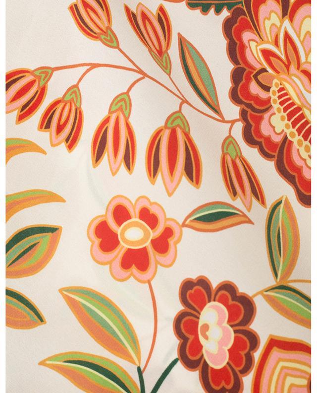 Poncho en soie imprimé fleurs mandala ETRO