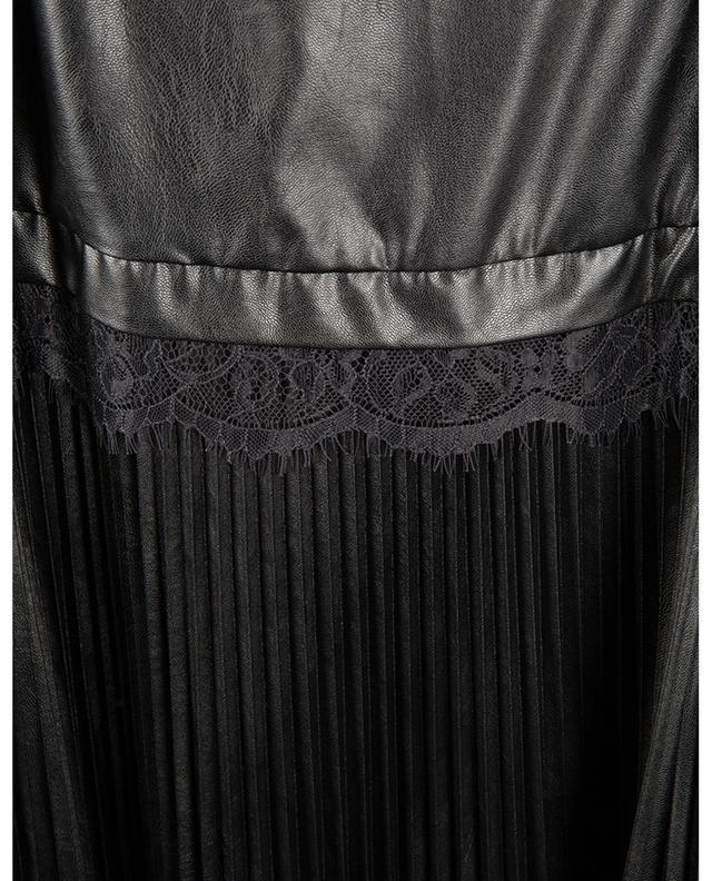 Robe longue bretelles plissée en cuir synthétique TWINSET