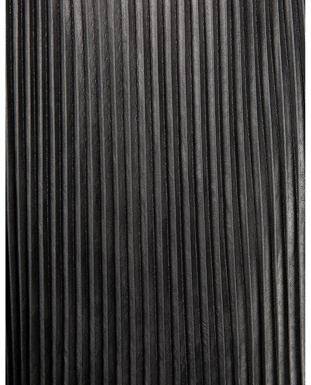 Jupe longue plissée en cuir synthétique et dentelle TWINSET