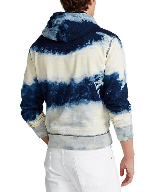 Sweat-shirt à capuche tie-and-dye indigo Pony POLO RALPH LAUREN