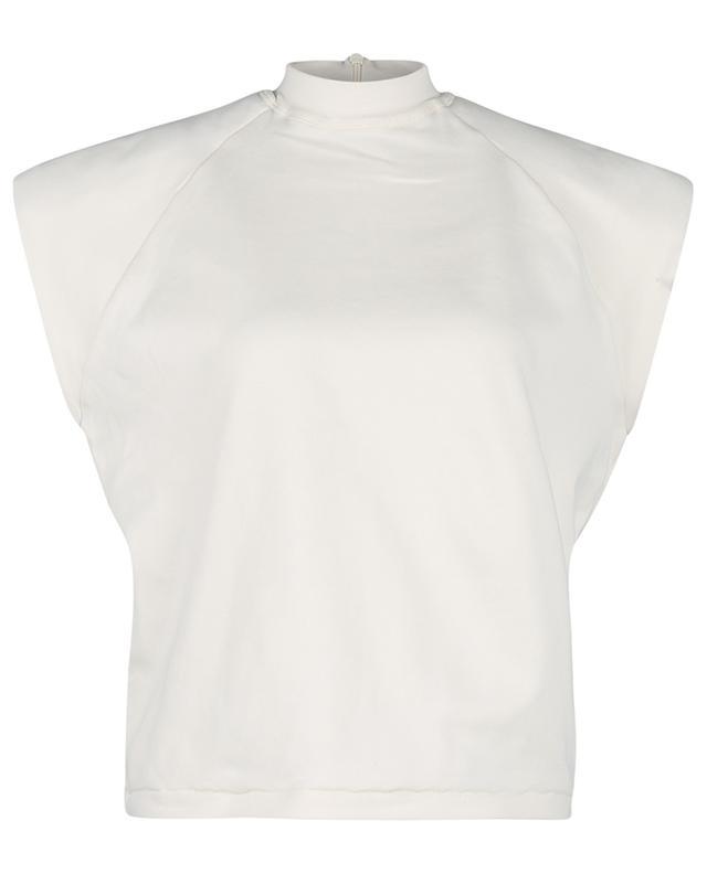 T-shirt boxy en coton bio Verona SL High-Neck Vanilla Ice REMAIN BIRGER CHRISTENSEN