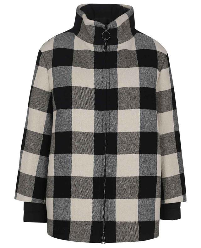 Manteau court 2 en 1 Checkerboard AKRIS PUNTO