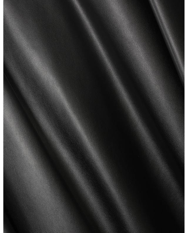 Jupe évasée midi en cuir synthétique AKRIS PUNTO