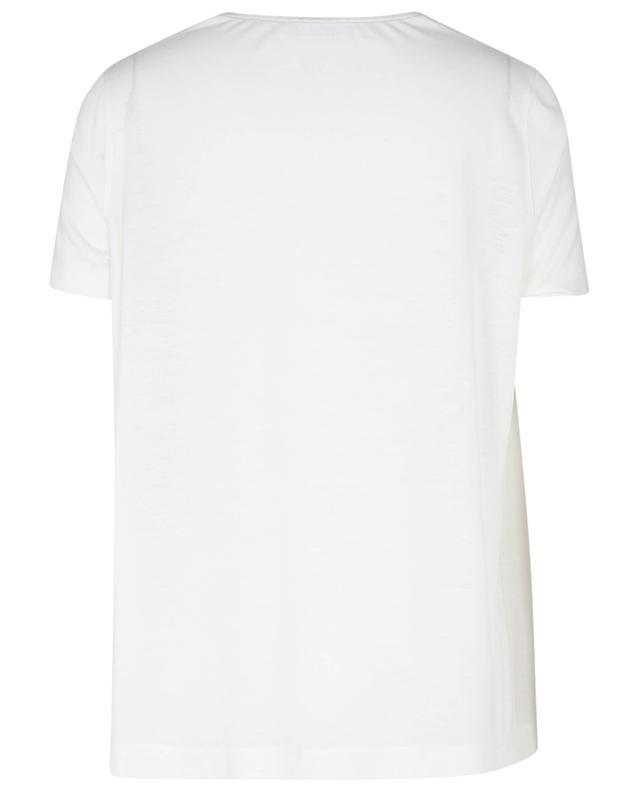 T-shirt bi-matière en soie et jersey AKRIS PUNTO