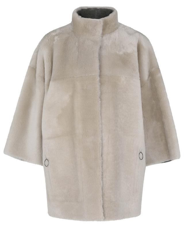 Veste réversible effet vintage en peau lainée AKRIS PUNTO