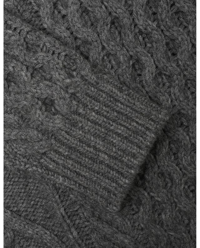 Pull en laine mélangée à col V et torsades AKRIS PUNTO