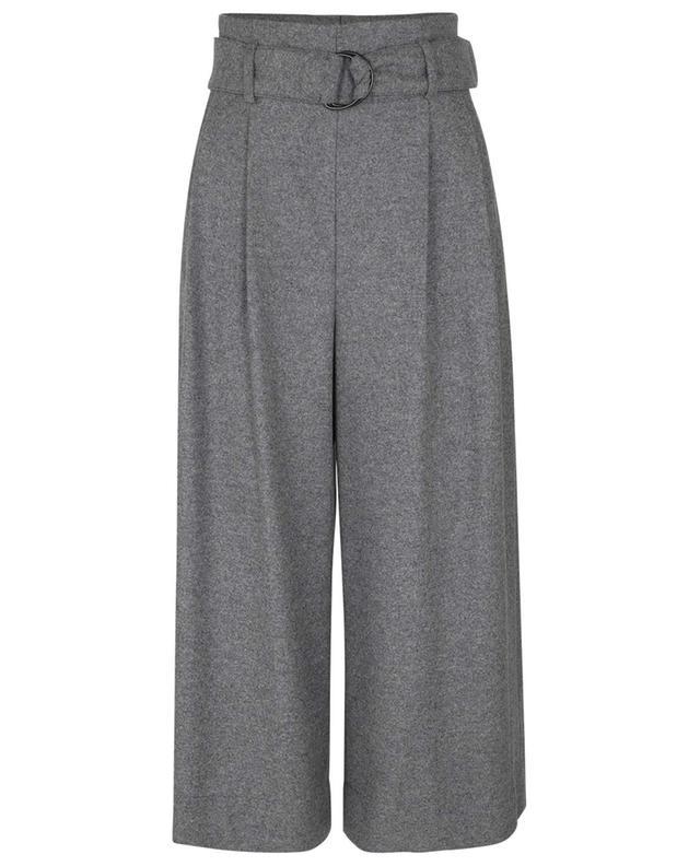 Pantalon raccourci large en laine Fiorella AKRIS PUNTO