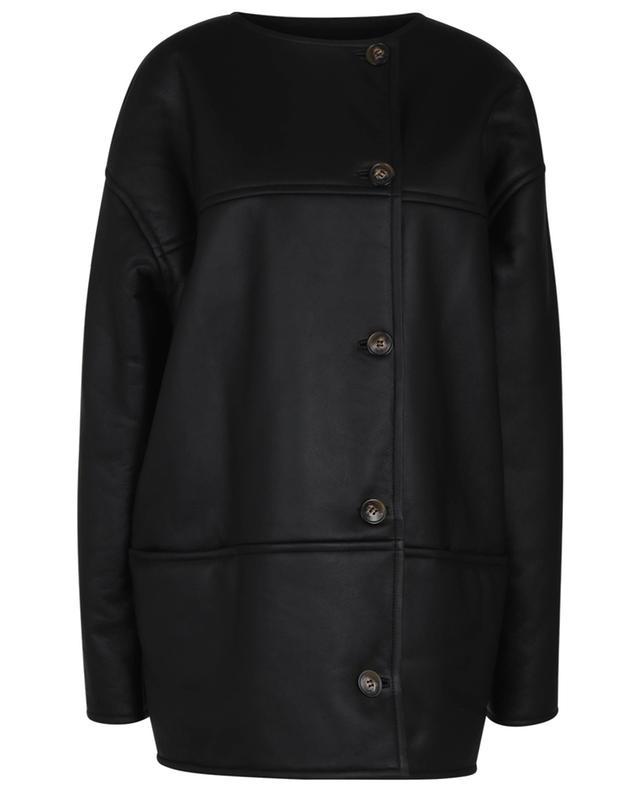 Pelado oversize lamb shearling jacket LOULOU STUDIO