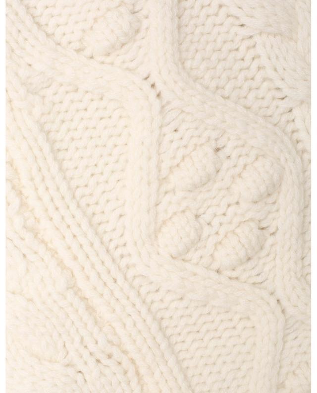 Cape en maille torsadée de laine et cachemire Beiro LOULOU STUDIO