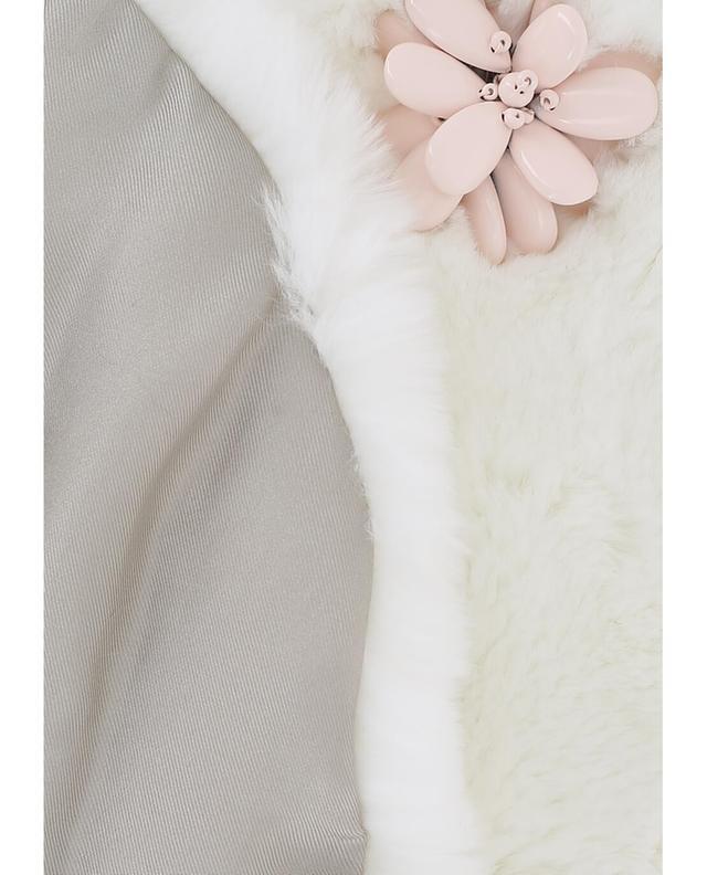 Fur collar with flowers YVES SALOMON