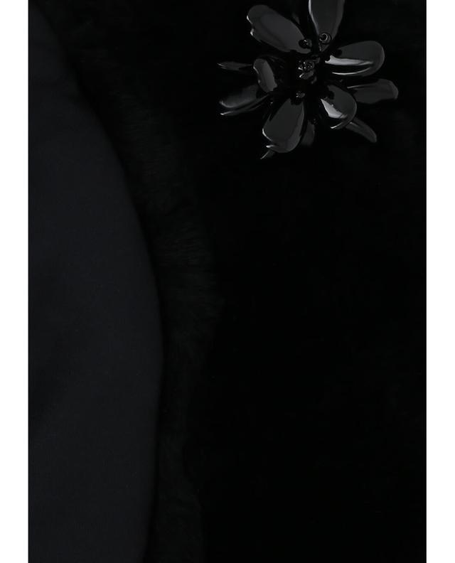 Col en fourrure avec fleurs YVES SALOMON