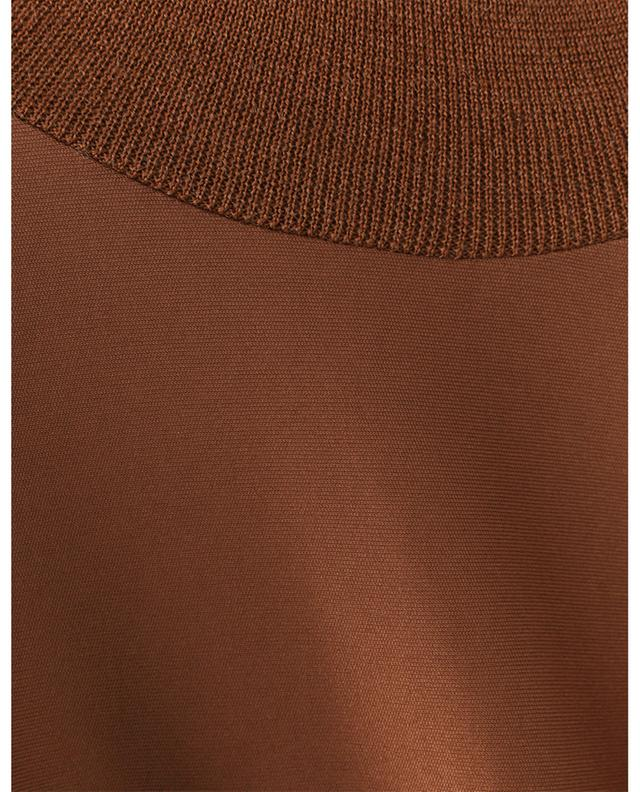 Robe midi plissée en jersey à col montant tricot FABIANA FILIPPI