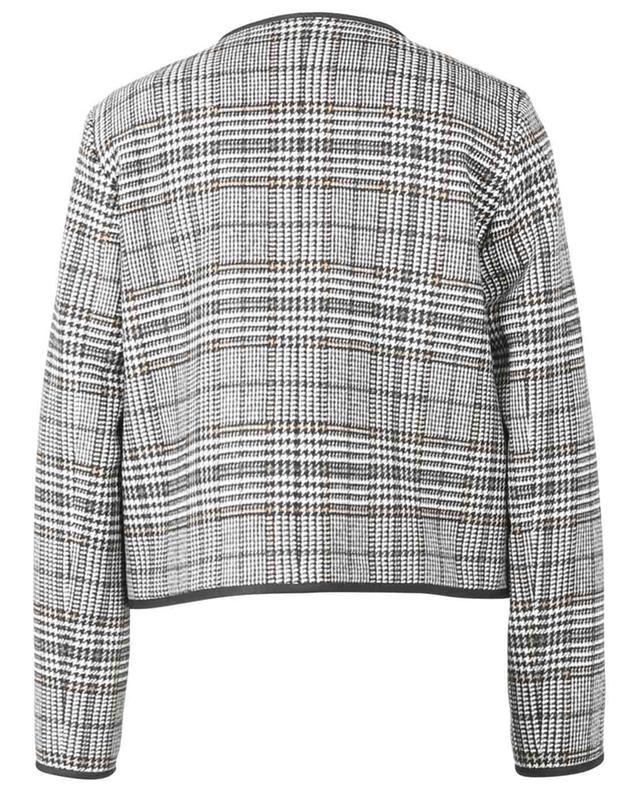 Veste courte en laine à carreaux prince-de-galles FABIANA FILIPPI
