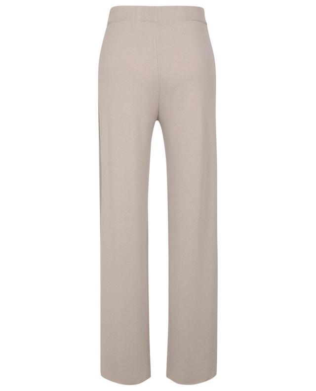 Pantalon large en maille de cachemire à rayures latérales et sequins FABIANA FILIPPI