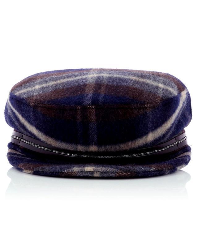 Casquette en laine à carreaux FABIANA FILIPPI