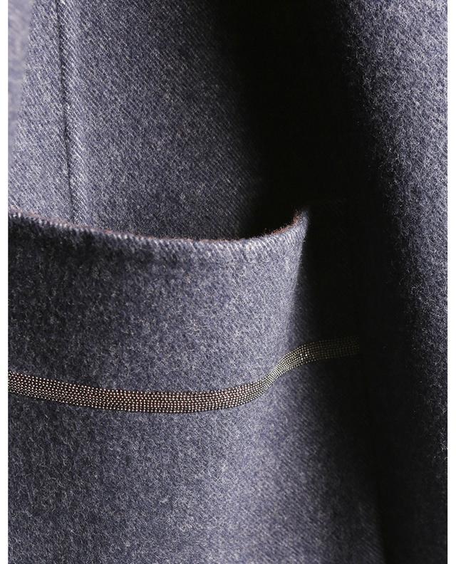 Manteau caban trapèze réversible en laine FABIANA FILIPPI