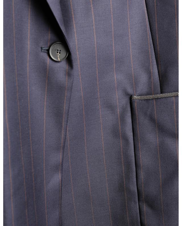 Blazer milleraie à boutonnage simple brodé de perles avec ceinture FABIANA FILIPPI