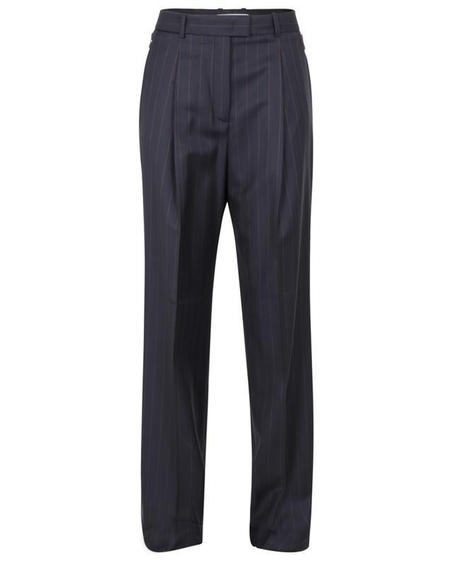 Pantalon large milleraie brodé de perles FABIANA FILIPPI