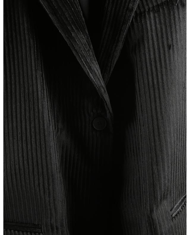 Blazer à boutonnage simple en velours côtelé scintillant FABIANA FILIPPI