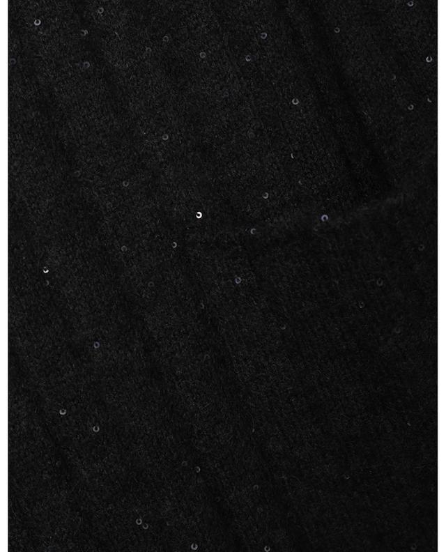 Cardigan long en laine mélangée et sequins FABIANA FILIPPI